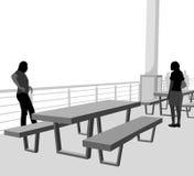 Plenerowa stołowa scena Zdjęcia Royalty Free