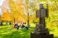 Plenerowa sztuki rzeźby wystawa przy Nirox parkiem obraz royalty free