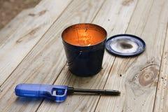 Plenerowa świeczka Zdjęcie Royalty Free