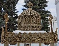 Plenerowa świeczka blisko kaplicy Czcigodna herma i Arsen Fotografia Royalty Free