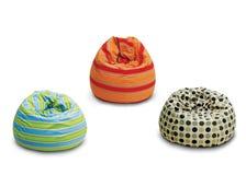 Plenerowe bobowe torby indoors Zdjęcie Stock