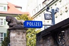 Plenerowe inwigilacji kamery, teren publiczny, inwigilacja stan obrazy stock