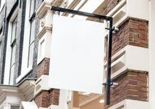 Plenerowego firma znaka signage handlowy mockup obrazy stock