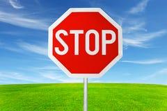 plenerowego znaka przerwa Fotografia Stock