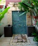 Plenerowej prysznic naturalna atmosfera Obrazy Stock