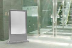 Plenerowej reklamy Iluminujący z powrotem zaświecający statywowy sztandar wystawia metalu panel Toczna plakatowa pokazu 3d ilustr ilustracja wektor