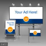 Plenerowej reklamy projekt Zdjęcia Stock