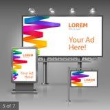 Plenerowej reklamy projekt Obrazy Stock