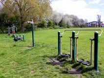 Plenerowy ćwiczenia wyposażenie w parku Fotografia Royalty Free