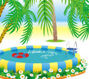 plenerowy basen royalty ilustracja