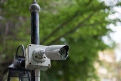 Plenerowy CCTV ochrony kamera wideo zdjęcie royalty free