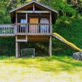 Plenerowy domek do zabaw Zdjęcie Royalty Free