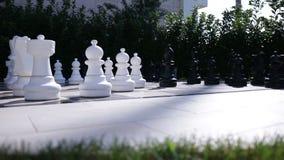 Plenerowy duży szachy w ogródzie zbiory wideo