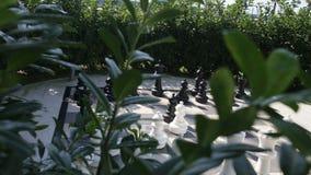Plenerowy duży szachy w ogródzie zbiory