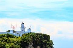 Plenerowy, góruje, skały, podróż, ściany, latarnia morska, dominanta, drzewo zdjęcia royalty free