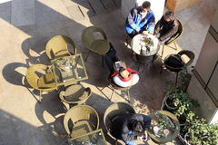 Plenerowy kawowy bar obrazy stock
