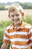 Plenerowy Kierowniczy I ramię portret chłopiec Zdjęcia Royalty Free