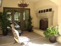 plenerowy kominka patio Obrazy Royalty Free