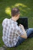 plenerowy laptopu działanie Obraz Stock