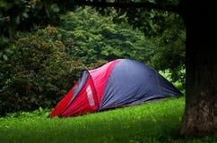 Plenerowy namiot w obozie Fotografia Stock