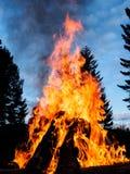 Plenerowy ognisko Fotografia Royalty Free