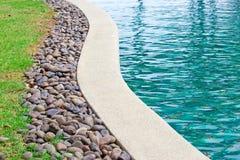 Plenerowy płytki pływacki basen Fotografia Stock