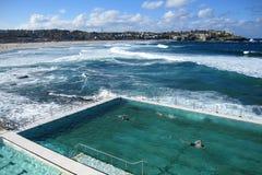 Plenerowy pływacki basen przy bondi plażą Zdjęcia Royalty Free
