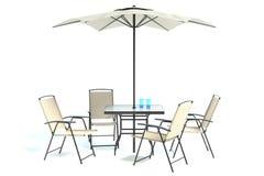 Plenerowy patio stołu set Fotografia Royalty Free