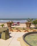 Plenerowy plażowy resaturant Obrazy Stock