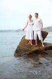 Romantyczna para przy plażą Zdjęcie Stock