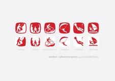Plenerowy & przygodo bawi się ikony aktualizację coll-01 Obraz Royalty Free