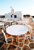 Plenerowy restauracyjny patio zdjęcie stock