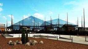Plenerowy rockowy ogród Zdjęcie Royalty Free