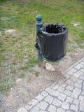 Plenerowy rubish kosz w parku Obraz Stock