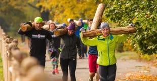 Plenerowy stażowy CrossFit Zdjęcia Stock