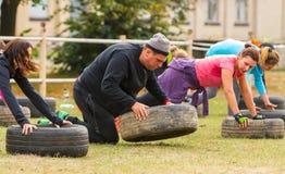 Plenerowy stażowy CrossFit Zdjęcia Royalty Free