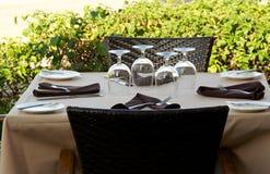 Plenerowy stołowy położenie Zdjęcia Royalty Free