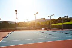 Plenerowy tenisowy sąd z nikt w Malibu Fotografia Royalty Free