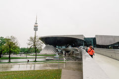 Plenerowy widok BMW obrzęk w Monachium Zdjęcia Royalty Free