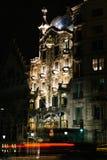 Plenerowy widok Casa Batlo budował Antoni Gaudi Obrazy Stock