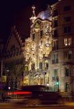 Plenerowy widok Casa Batlo budował Antoni Gaudi Zdjęcie Stock