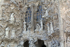 Plenerowy widok ` losu angeles Sagrada Familia ` Obrazy Royalty Free
