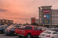 Plenerowy widok przeznaczenie usa centrum handlowe fotografia royalty free