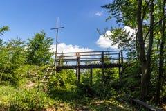 Plenerowy widok w Slovakian wsi Zdjęcia Royalty Free