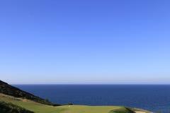 Pleneuf Val Andre golfbana, Bretagne, Frankrike Royaltyfri Fotografi