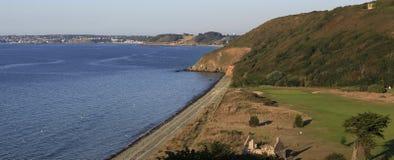 Pleneuf Val Andre golfbana, Bretagne, Frankrike Royaltyfri Bild