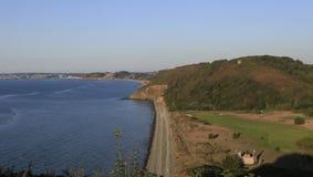 Pleneuf Val Andre golfbana, Bretagne, Frankrike Fotografering för Bildbyråer