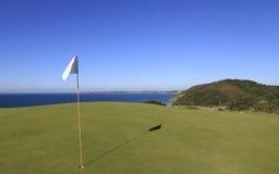 Pleneuf Val Andre pole golfowe, Bretagne, Francja Zdjęcia Stock