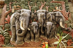 pleśniejąca słoń postać Obrazy Royalty Free