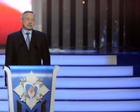 Plenipotentiary representative of the President of the Russian Federation in the Central Federal district Alexander Beglov at the. MOSCOW, RUSSIA - FEBRUARY 17 Stock Image